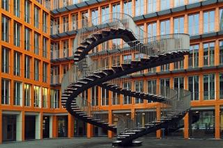 Eine Treppe nach nirgendwo.
