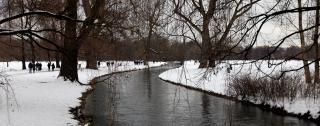 Der Englische Garten<br>Im Winter weiß statt grün. Aber nicht weniger schön.