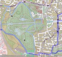 Schlosspark Nymphenburg<br>hier in der Open Streetmap Variante
