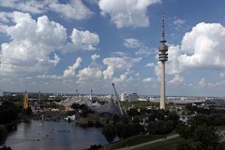 Der Olympiapark<br>Vom Aussichts-Hügel aus abgelichtet.