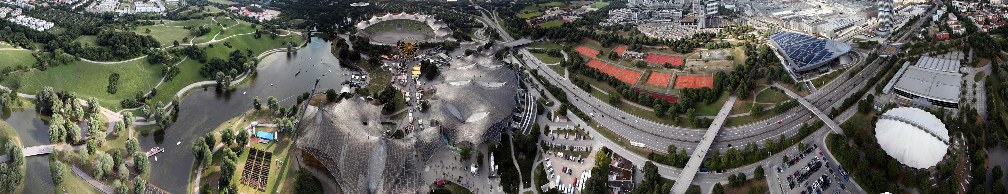 Noch ein Panorama<br>Diesmal nur halb und mit Fokus auf den Olympia-Anlagen