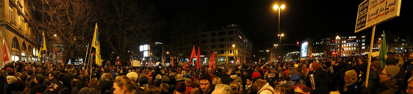 Massenveranstaltung<br>Rund 20000 Menschen rund um das Sendlinger Tor - das hat es in München lange nicht mehr gegeben.