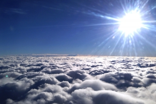Über den Wolken<br>Auf dem Flug nach Hamburg