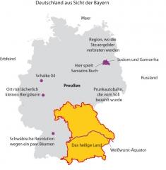 Deutschland aus Sicht der Bayern<br>
