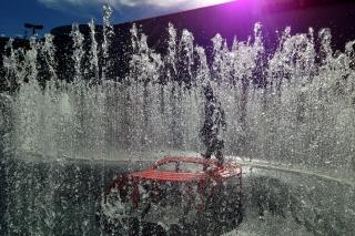 Brunnen bei den Pasing Arcaden<br>Da sage noch einer, man könne mit dem Telefon keine schönen Bilder machen. Manchmal.