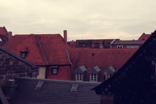 Blick über die Dächer<br>Exponierte Position zur Beobachtung nächtlicher Feuerwerke