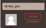 Schritt 1 - Profil aufrufen<br>