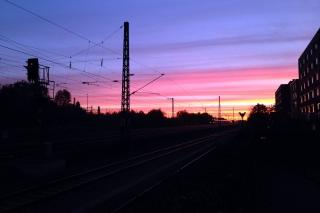 Sonnenaufgang<br>Vergangene Woche vor dem Büro. Beinahe schon romantisch...