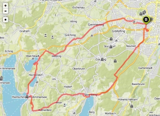Die Seen-Tour<br>Über Germering und Weßling ging's zur großen Seen-Tour.
