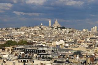 Blick auf Sacré-Cœur<br>Und über halb Paris. Also ich hab schon hässlichere Städte gesehen