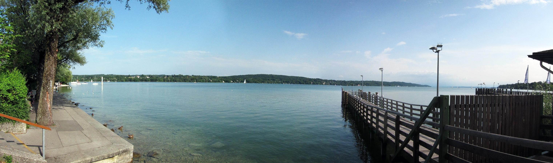 Der Starnberger See<br>Am Ende dann doch noch von der Sonne beschienen.